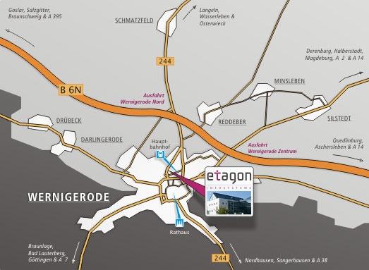 Route zu ETAGON bei Google Maps